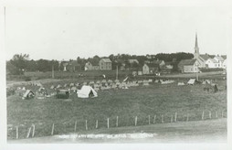 Army Encampment at De Kalb Junction, 1908