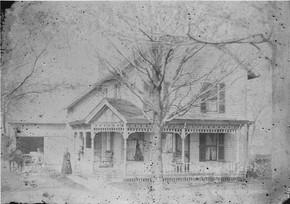 Nathan Burnham homestead Green, Street, De Kalb Junction circa 1900