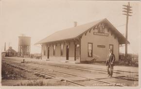 Mr. Woodward at De kalb Junction station