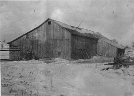 David and Minerva Hurlbut Homestead barn Osbornville circa 1937