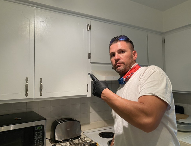 Ronnie with Resurfaced Cabinets
