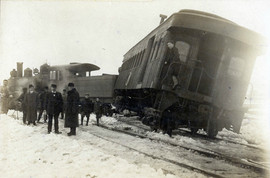 Derailment on the St Lawrence Railroad.j