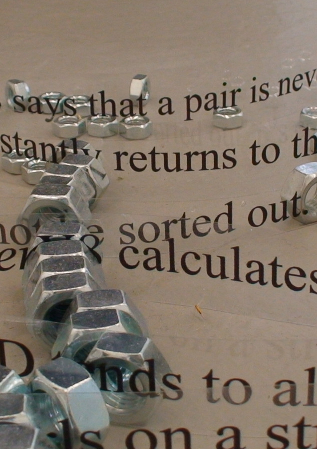 Transparent prints, nuts, 2014
