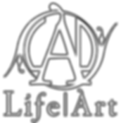 LifeArt Logo Inverted Transparent Outlin