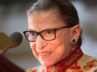 Supreme Court Justice Ginsburg as a trailblazer encourages women to fight for the things you care ab