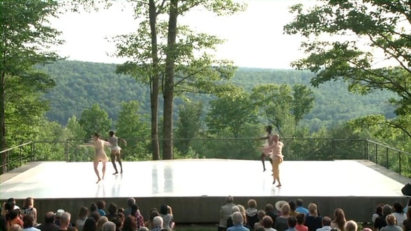 excerpt from Trainor Dance's Sandpainting at Jacob's Pillow Inside/Out Stage. July, 2015