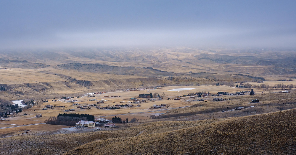 The western outskirts of the town of Wapiti