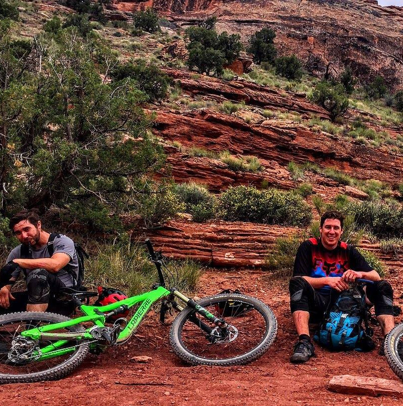 Photographed alongside my brother about half way down the Whole Enchilada trail in Moab. That trail is the most fun and simultaenously the most draining bike experience I have ever had.