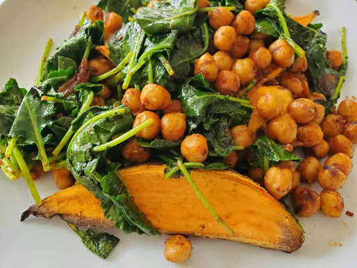 Spicy Sweet Potato Bowl with Chickpea and Kale
