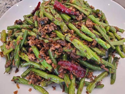 Dry-fried Green Beans (vegan)