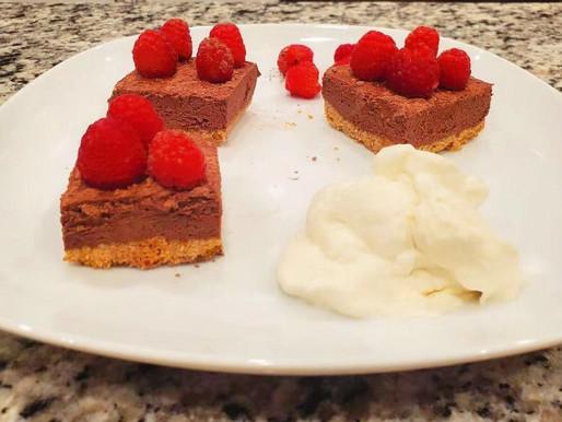Raspberry-rich No-bake Chocolate Mosses