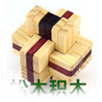 Two-color pine blocks