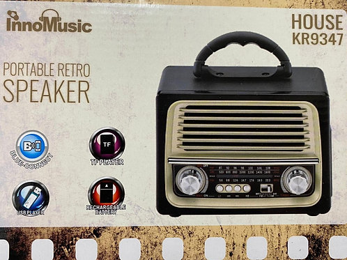 רמקול רדיו ריטרו