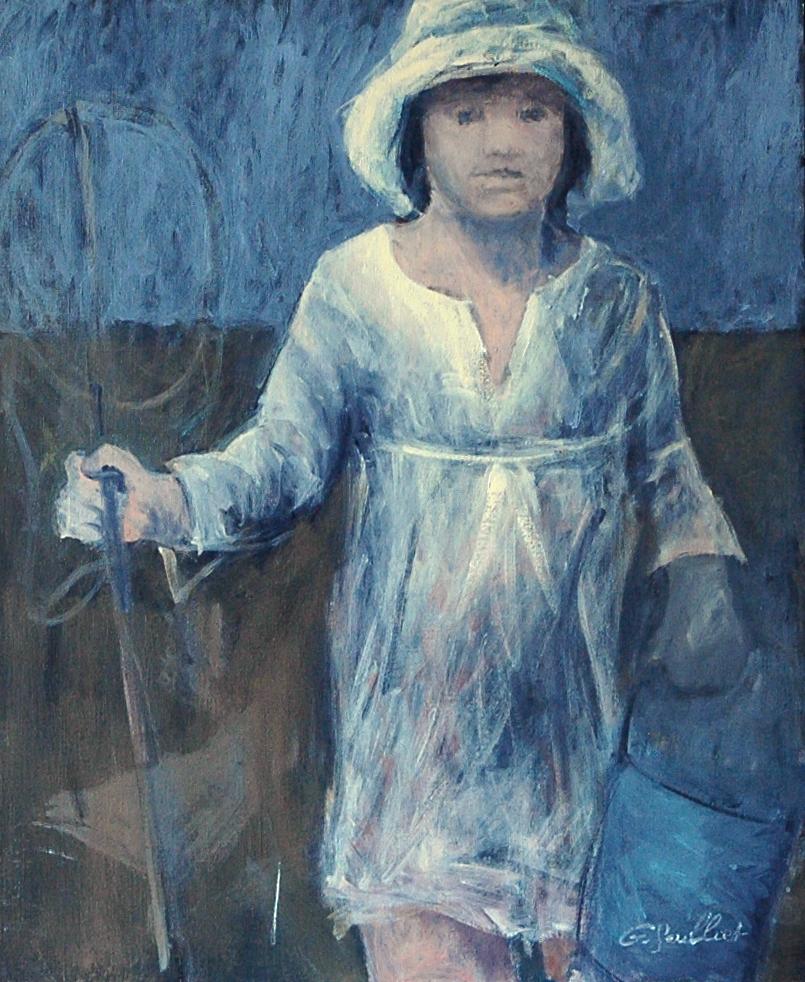Enfant au seau bleu - 73x60 -  2016