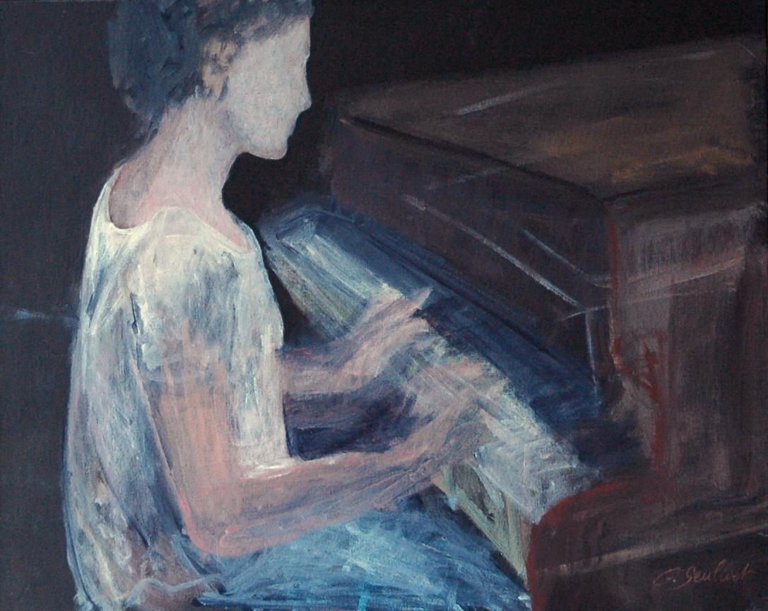 La pianiste - 65x81 - 2016