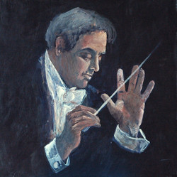 Le chef-d'orchestre - 60x60 - 2016