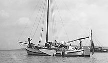 2. Chantecler anchored in the Swale..jpg
