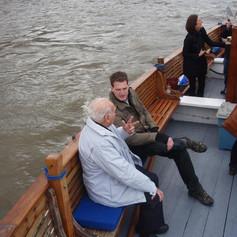 9. Lofty and Dan Snow prepare for filmin