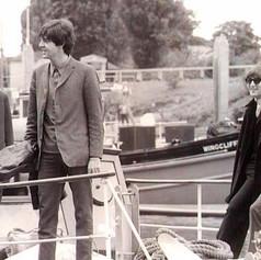 9. John, George, Paul & Ringo on Thamesa