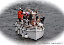 Lady Gay approaches Weybridge Mariners w