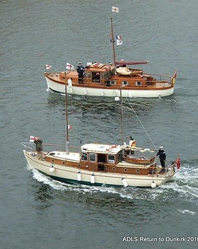 8. Two fine examples of the work of The Walton Yacht and Launch Works Ltd, Nyula and Hilfr