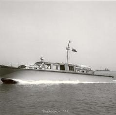 1. Makaira on Southampton Water 1952. By