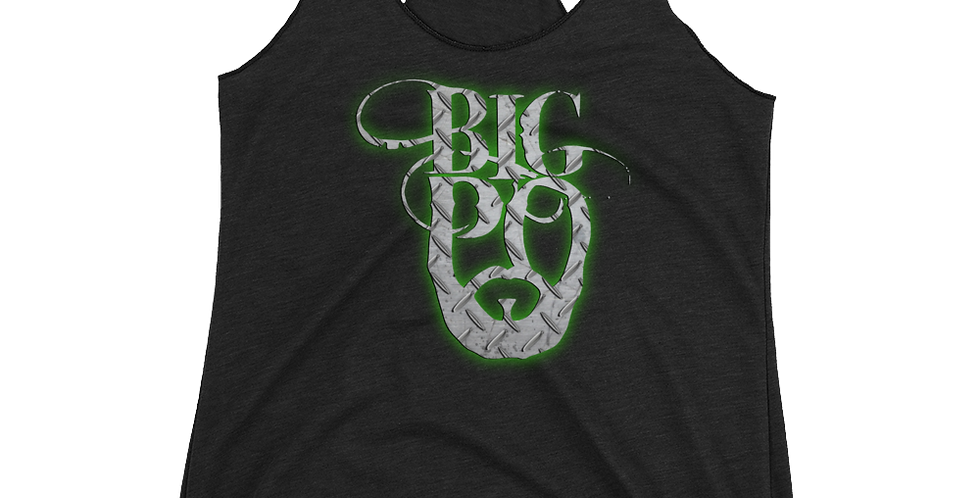 Big Po Metal Women's Racerback Tank