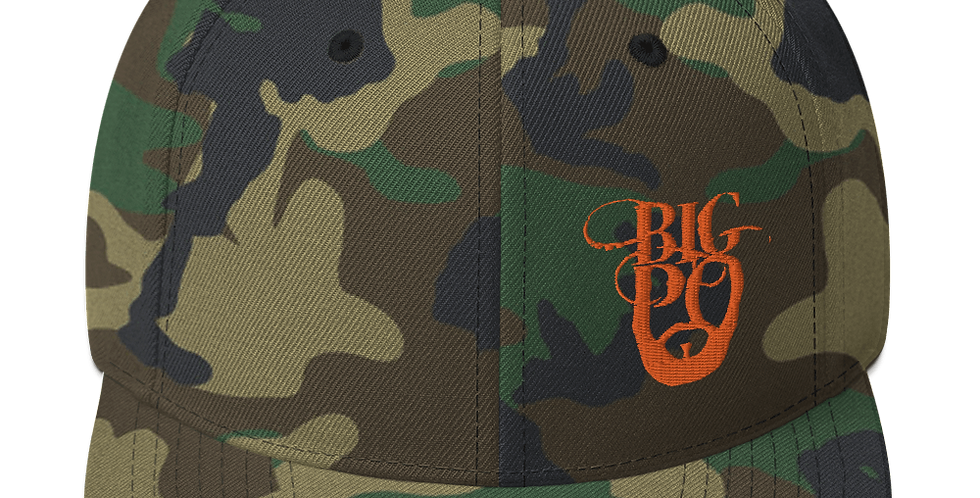 Big Po Camo Embroidered  Snapback Hat