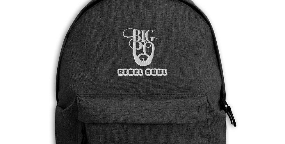 """BIG PO """"REBEL SOUL"""" Embroidered Backpack"""