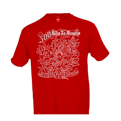 Album Cover on Red T-shirt