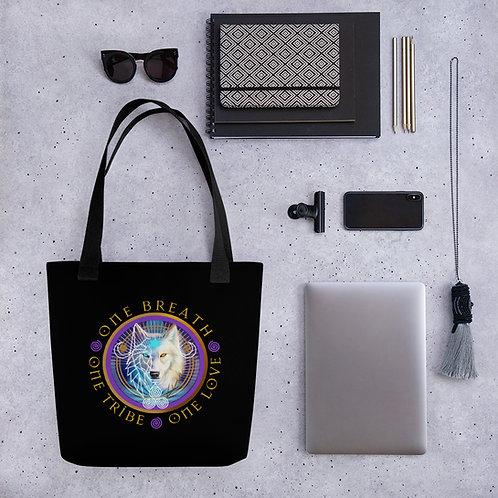 Tote Bag - Black - Raven/Wolf - VR