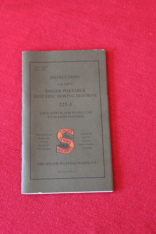 Featherweight 221 Manual Reprint