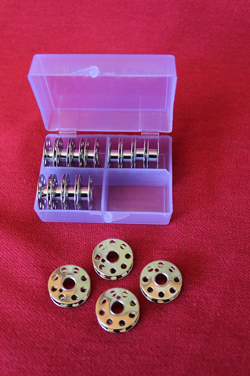 Bobbins - 16 Featherweight Bobbins perfect plastic case