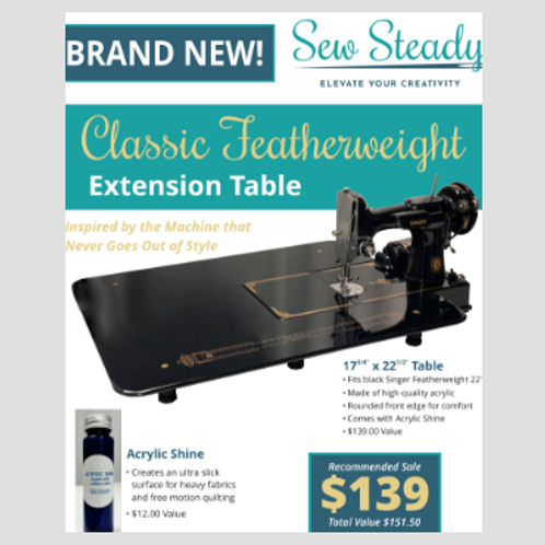 Classic Black Sew Steady Extension Table