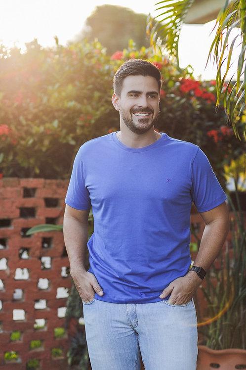 Camisa T-Shirt 2n Bordada Básica - Azul Royal
