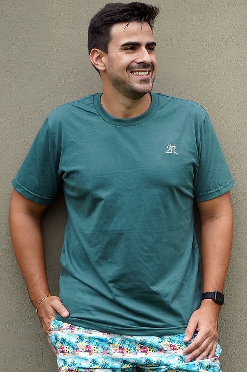 Camisa T-Shirt 2n - Bordada Verde