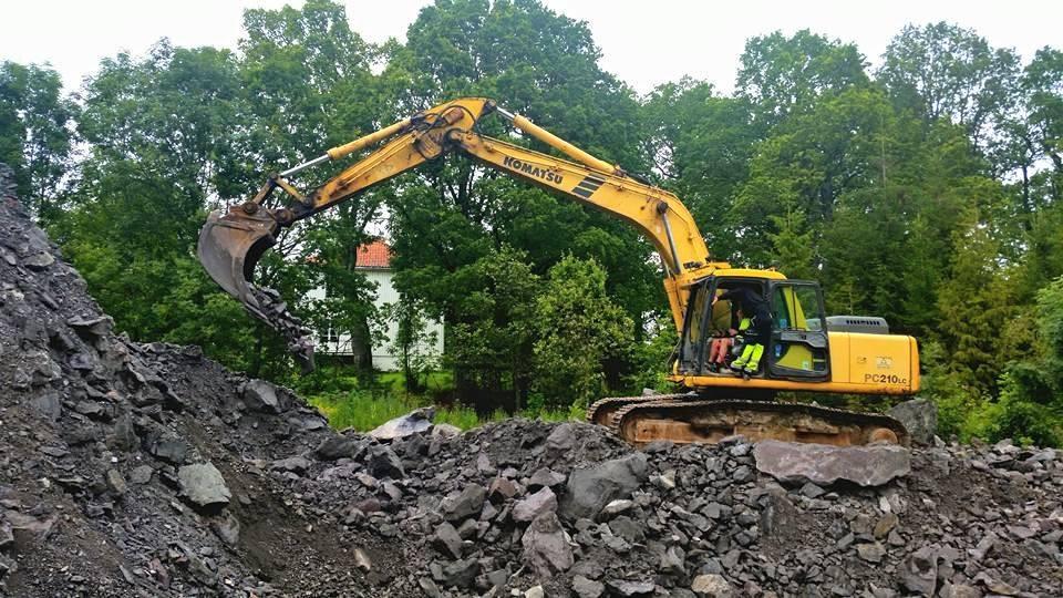 21 tonns graver