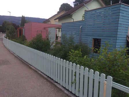 Holzzaun Garten Wangen an der Aare
