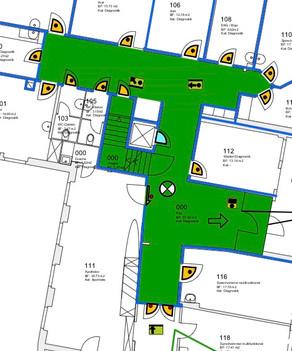 Brandschutz für Klinikgebäude in Arlesheim