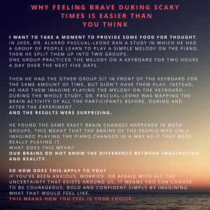 A note about fear