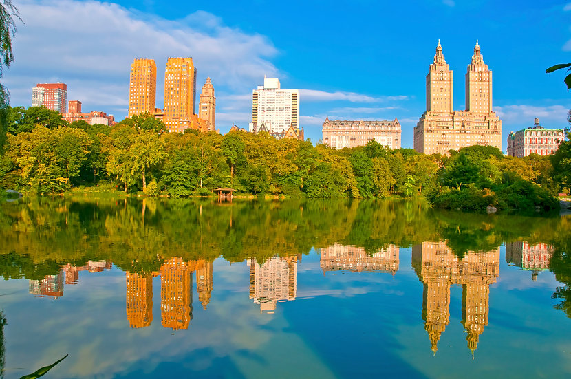 view of the San Remo from Central Park. Upper West Side love.