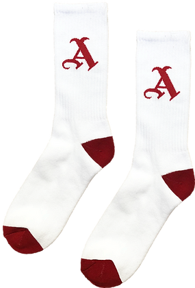 'A' SOCKS (RED)