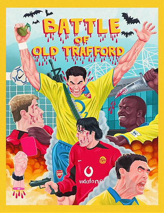 The Battle of Old Trafford (A2 Print)