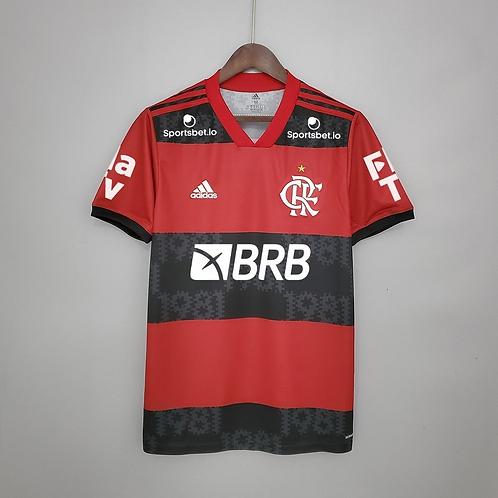 Camisa Flamengo Home Com Patrocínio 21/22