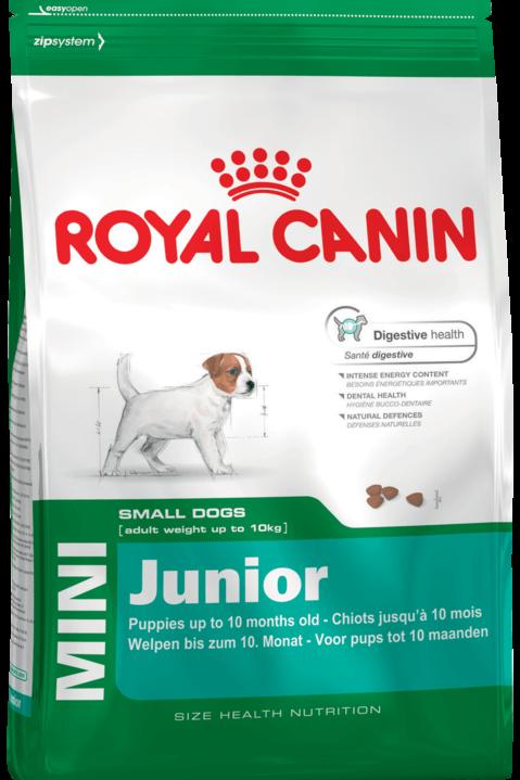 Сухой корм Royal Canin Mini Junior для щенков с 2 до 10 месяцев