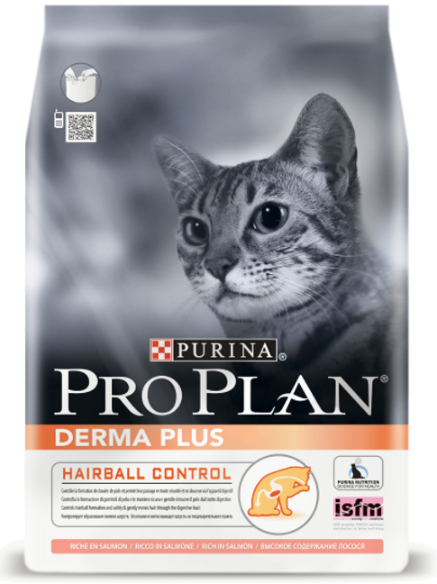 Сухой корм Pro Plan Derma Plus для взрослых кошек с чувств. кожей