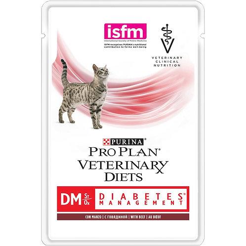 Корм влажный говядина PURINA VETERINARY DIETS для кошек DM St/Ox диабетик
