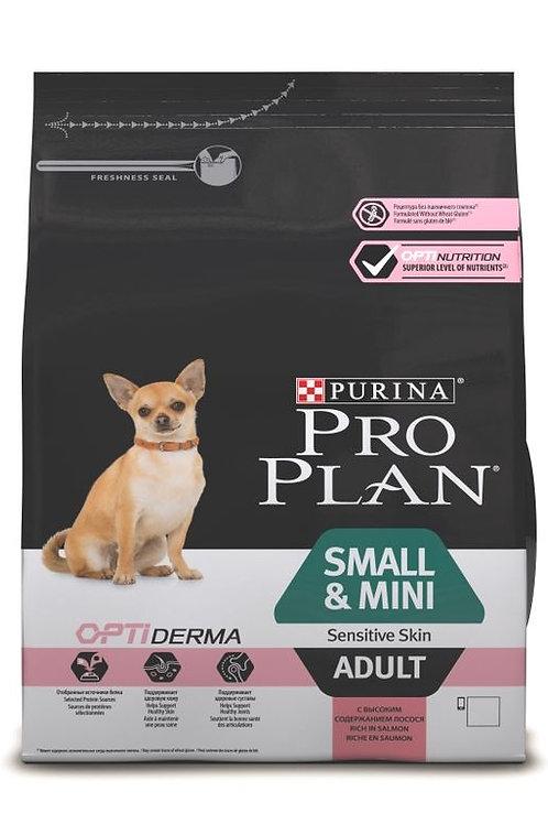 Сухой корм 700 гр Pro Plan OPTIDERMA для собак мелких/карликовых с лососем