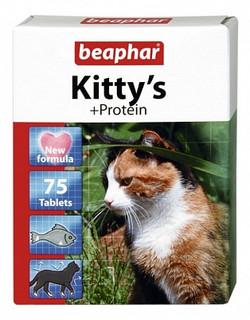 Витамин Беафар для кошек 75 таб , 1 уп, Протеин сердечки