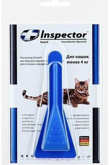 Капли Инспектор для кошек менее 4 кг, 1 пипетка, Экопром